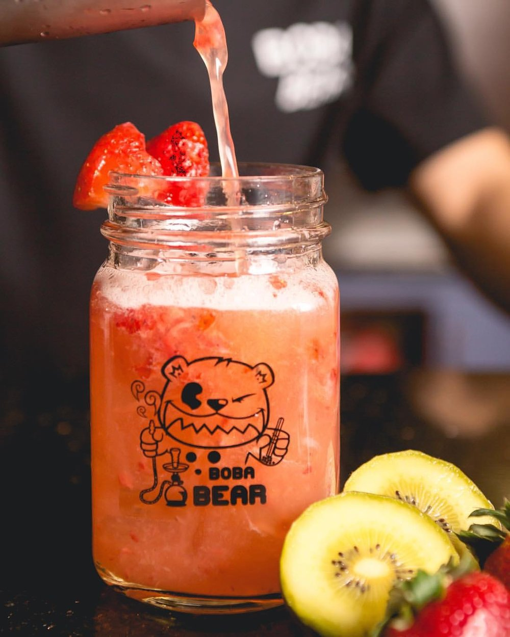 Boba Bear - Who here has spent many an evening drinking boba and smoking hookah at Boba Bear in K-town or Rowland Heights? They will be selling their signature drinks such as the Razzle Dazzle with raspberry, strawberry and orange green tea or the Yoda with kiwi, honeydew, and lychee green tea as well as their milk tea in a classic mason jar.
