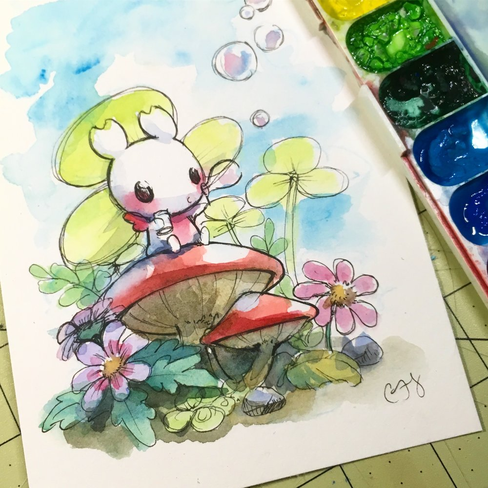 Sakuradragon - Artist Cindy Duong is a LA based illustrator and designer. She loves to create fun, brightly colored illustrations for everyone's inner child. Much of her inspiration comes from Nintendo, Disney, Studio Ghibli, and pretty edible things.