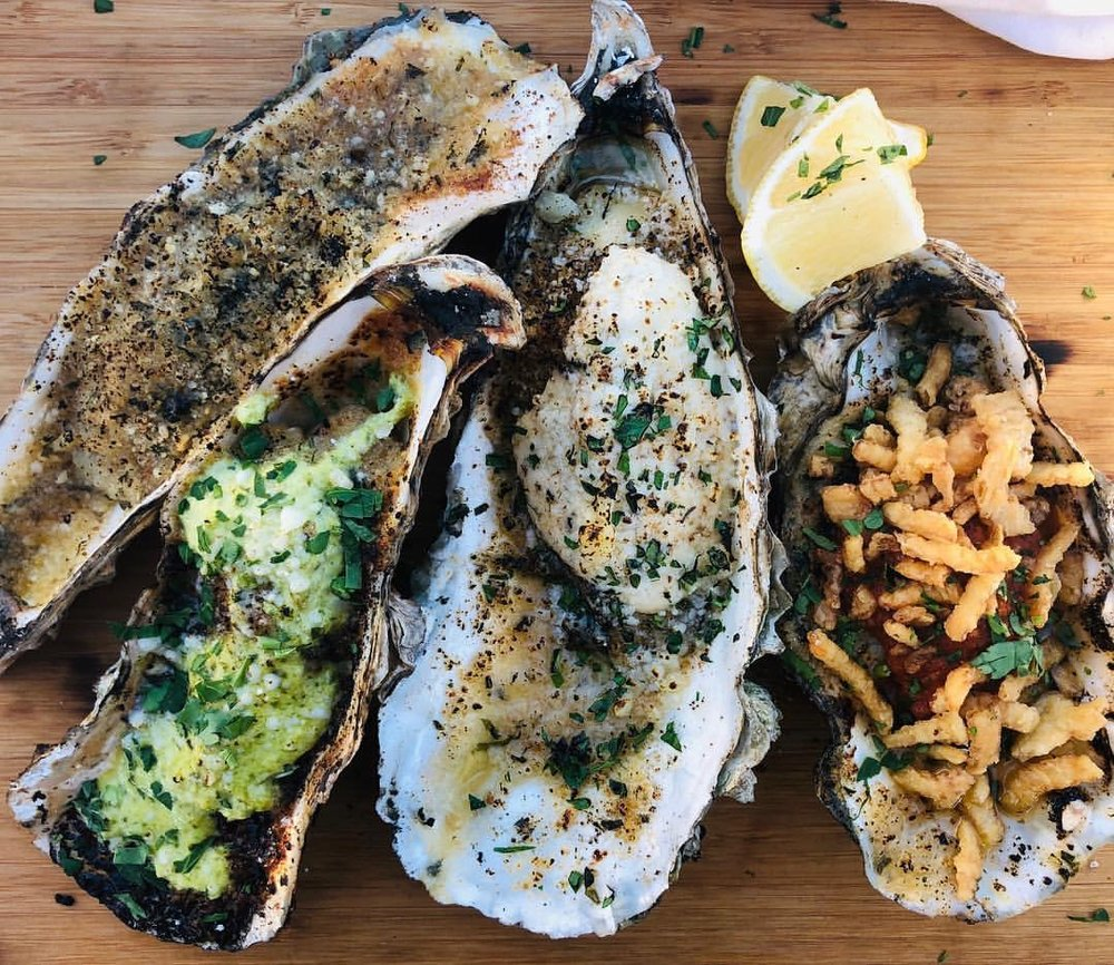 Delicious grilled seafood from new vendor Mussels & Pearls.