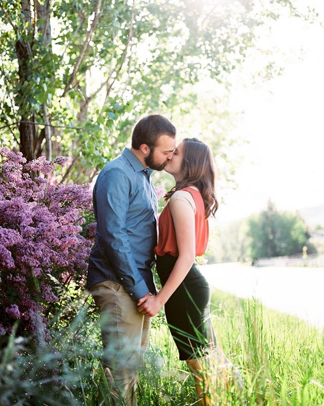 Give me all the floral bushes and all the engagement sessions! 😍 #portra160 #pentax645n #thefindlab #filmisnotdead #believeinfilm #kodak #utahportraitphotographer #utahengagementphotographer