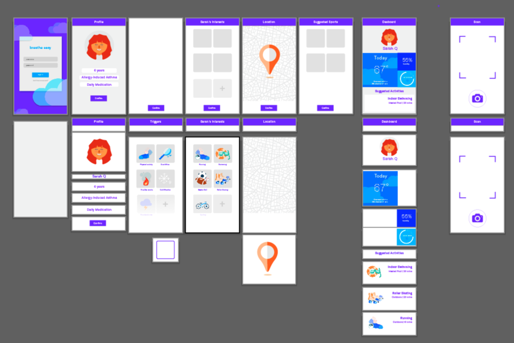App wireframing