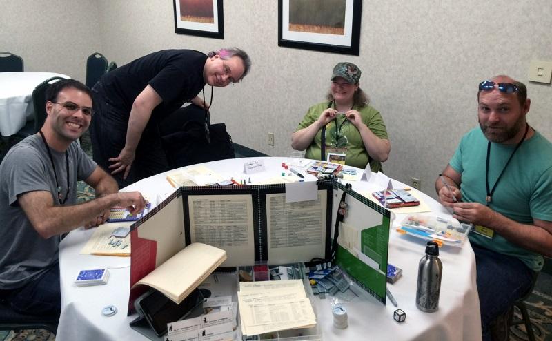The crew of the Golden Can: Joe, Wilhelm, Liz, and Jason