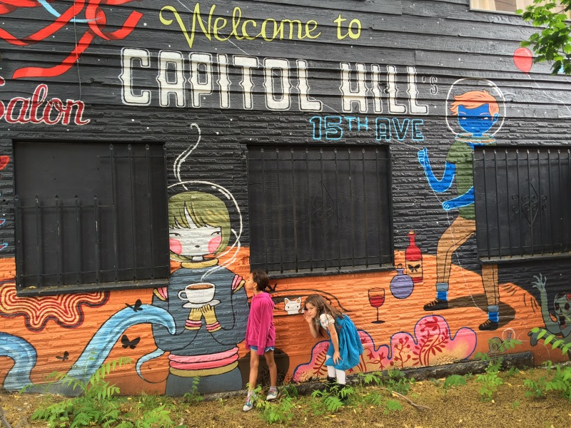 Welcome to Capital Hill! Lyfting, Walking, and busing about the city.