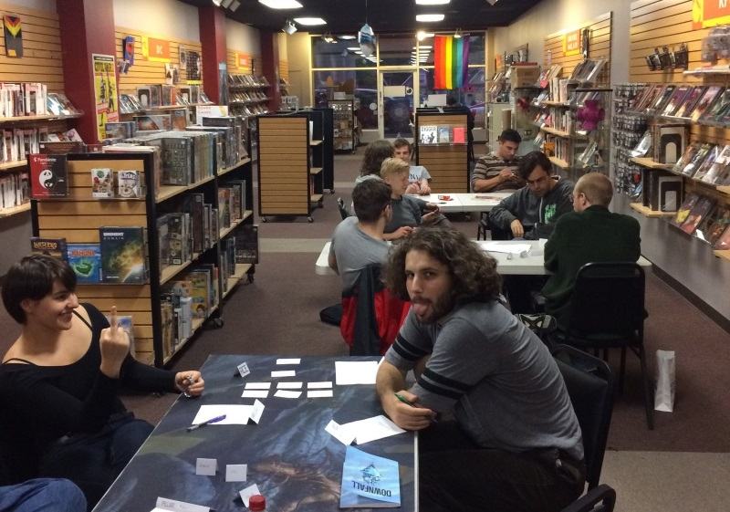 A picture of the Phoenix and Story Games Seattle that night, which I totally stole from Ben Robbins (I think?)