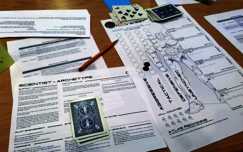 Super nutso amazing... playbooks for the characters, and then shared mecha sheets.