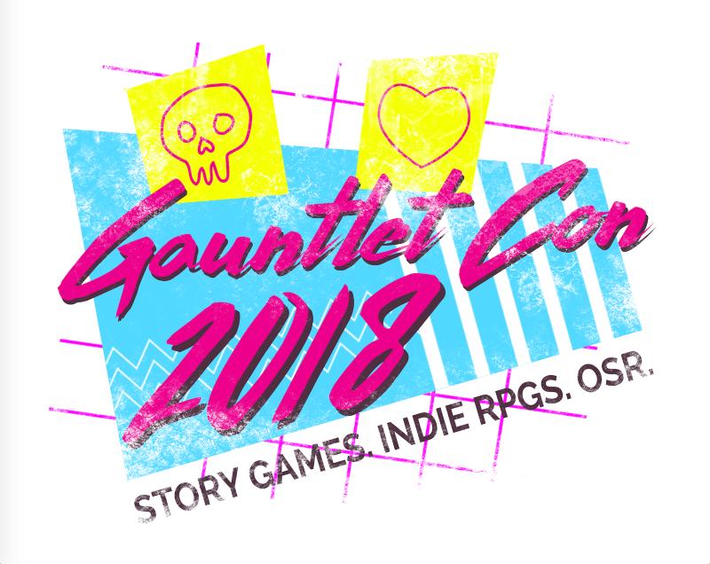 Fabulous GauntletCon 2018 logo!  Worthy of a T-shirt .