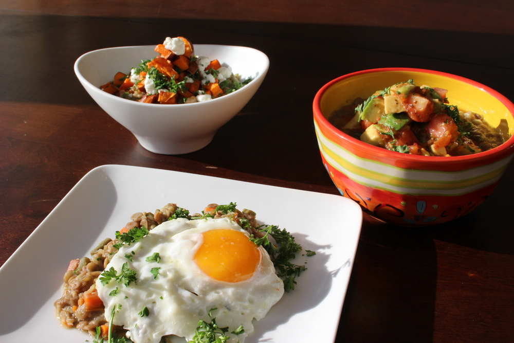 Various presentations of Colombian Lentil Stew