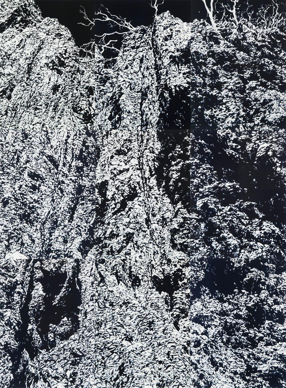 Annika Romeyn 'Chasm 1' monotype 228 x 168cm, 2017