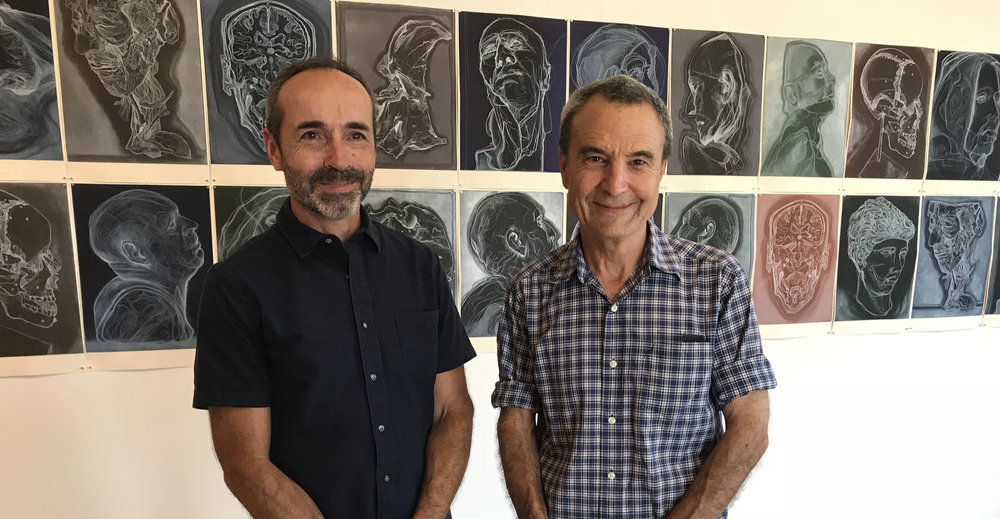 Artist Tony Ameneiro with Megalo Board Member John Pratt