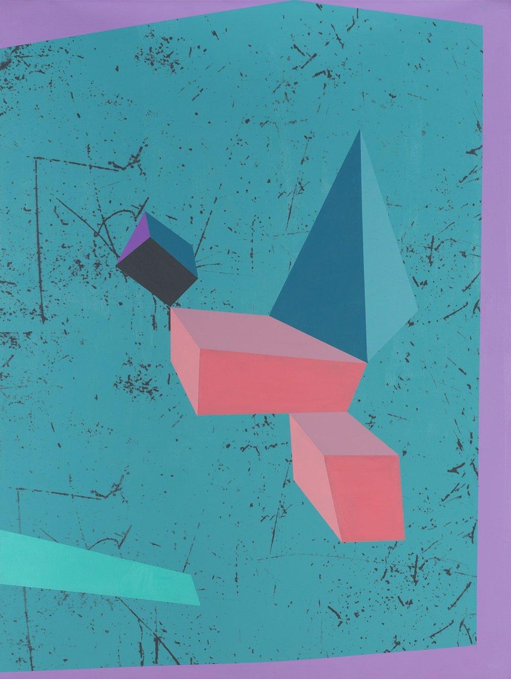 Image:  untitled  Ben Rak screen print on board, 2017