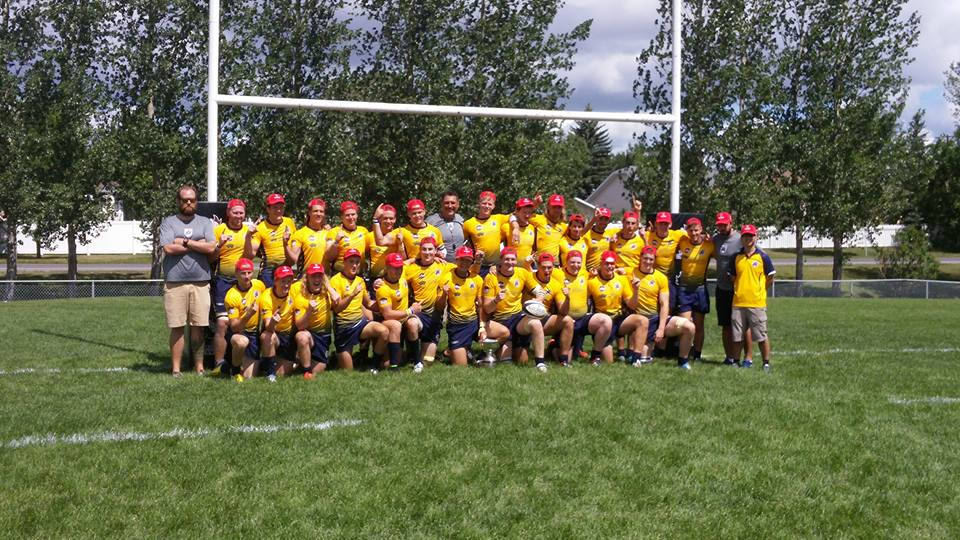 North star director of rugby, curry hitchborn (far left) with the crc u19 champions in saskatchewan