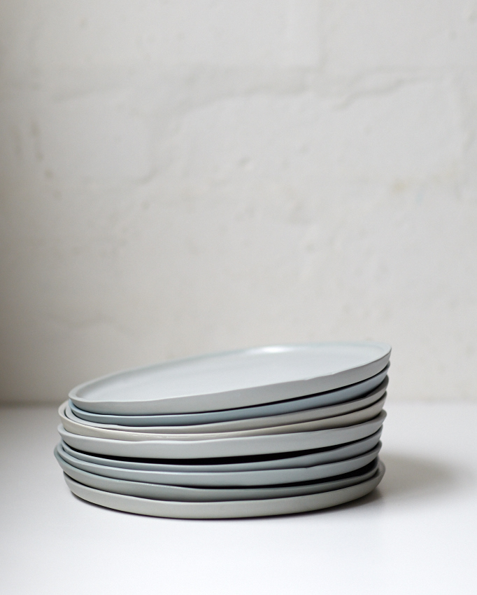Porcelain Dusk Dinner Plate - Small & Porcelain Dusk Dinner Plate - Small \u2014 STUDIO ENTI