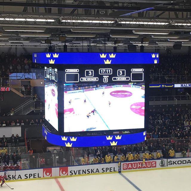 LEDventure har levererat digitalt material till kvällens match mellan Tre Kronor vs. Tjeckien i Behrn Arena #trekronor #hockey #ledscreen #animation
