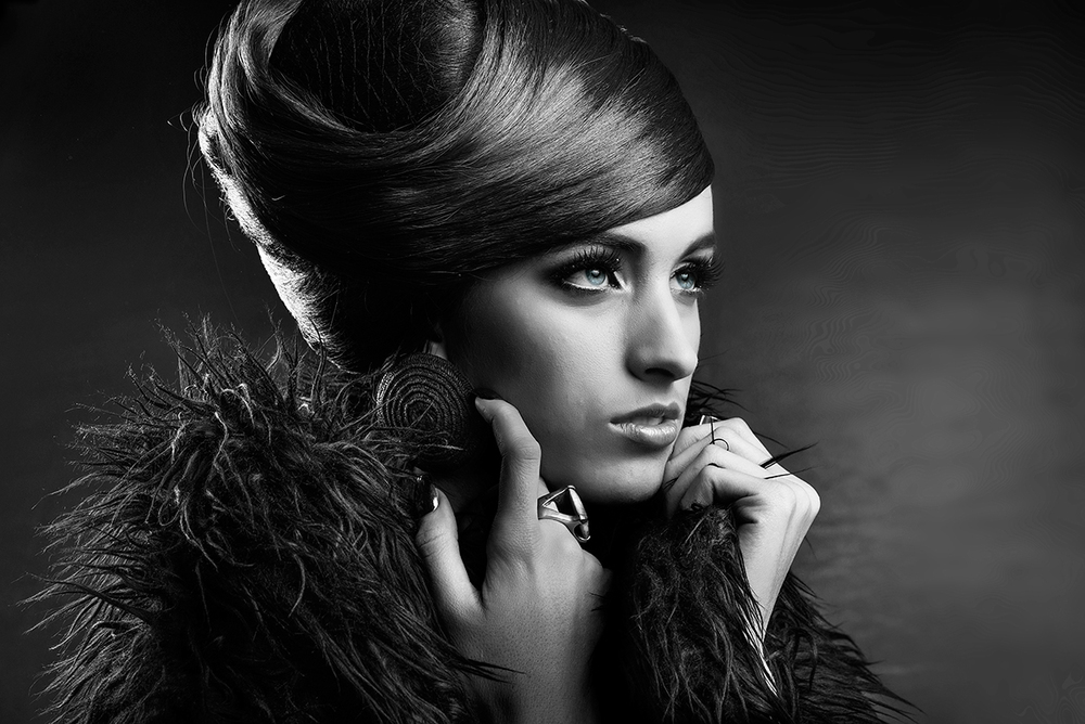 Black and White Glamour Photography