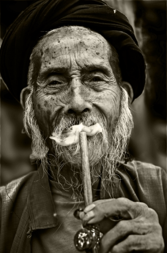 Old man Smoking - Portrait