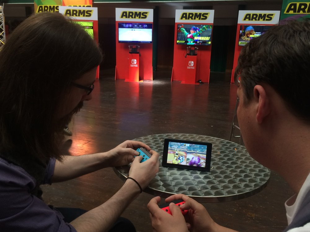 James reminds Lee who the real ARMS pro is in Table Top Mode
