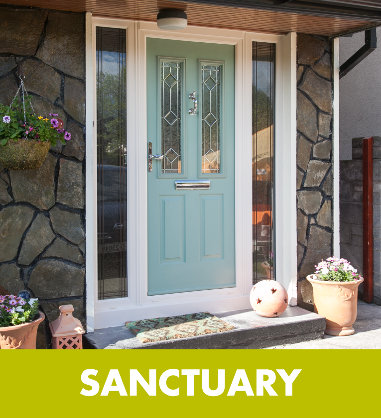 SANCTUARY We are experts in installing front & back PVC Doors with robust security features such as strong multipoint locking system to ensure your home is secure.