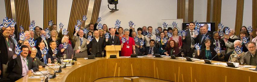 Scotland parliamentarians wave goodbye to nuclear weapons!