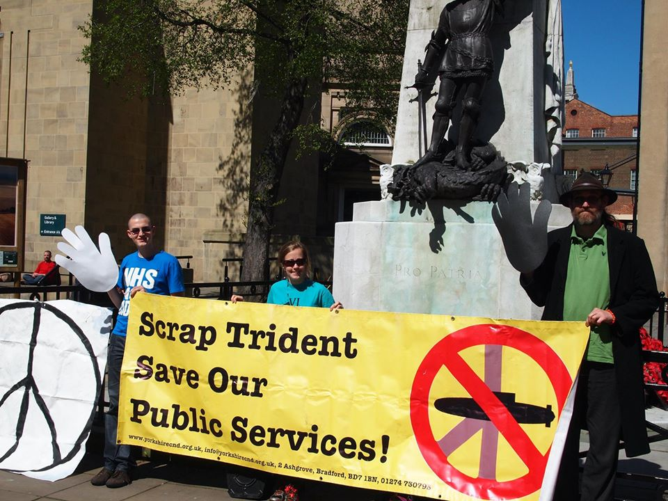 Leeds, UK wave Goodbye to nuclear weapons