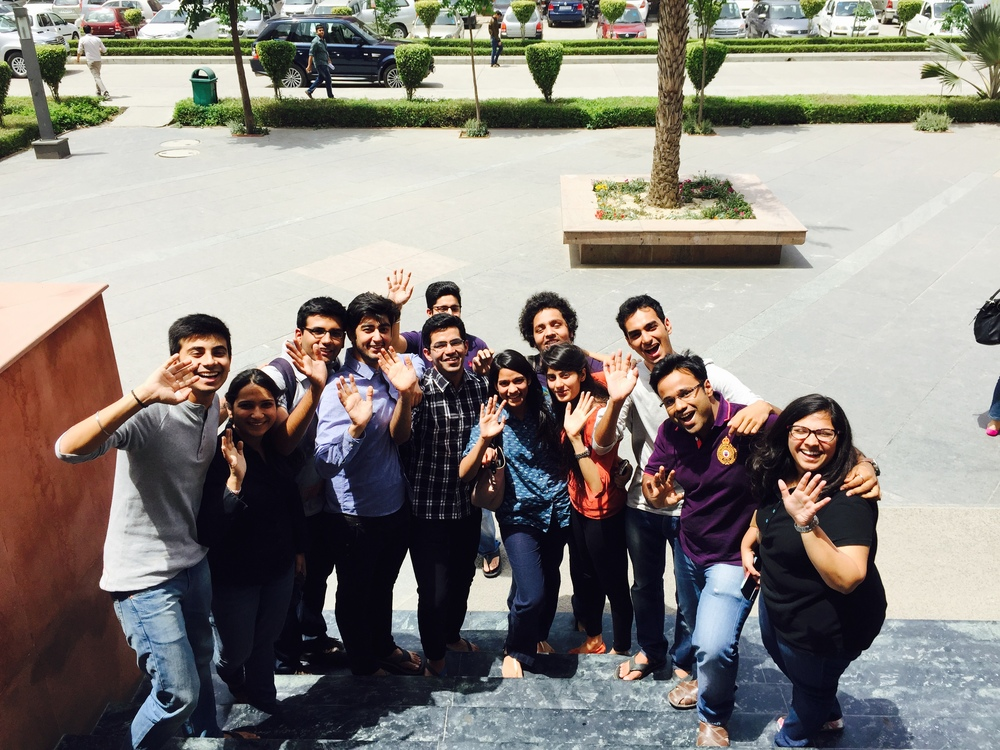 Students of 4th Year, Amity Law School, Delhi waving goodbye to nuclear weapons!