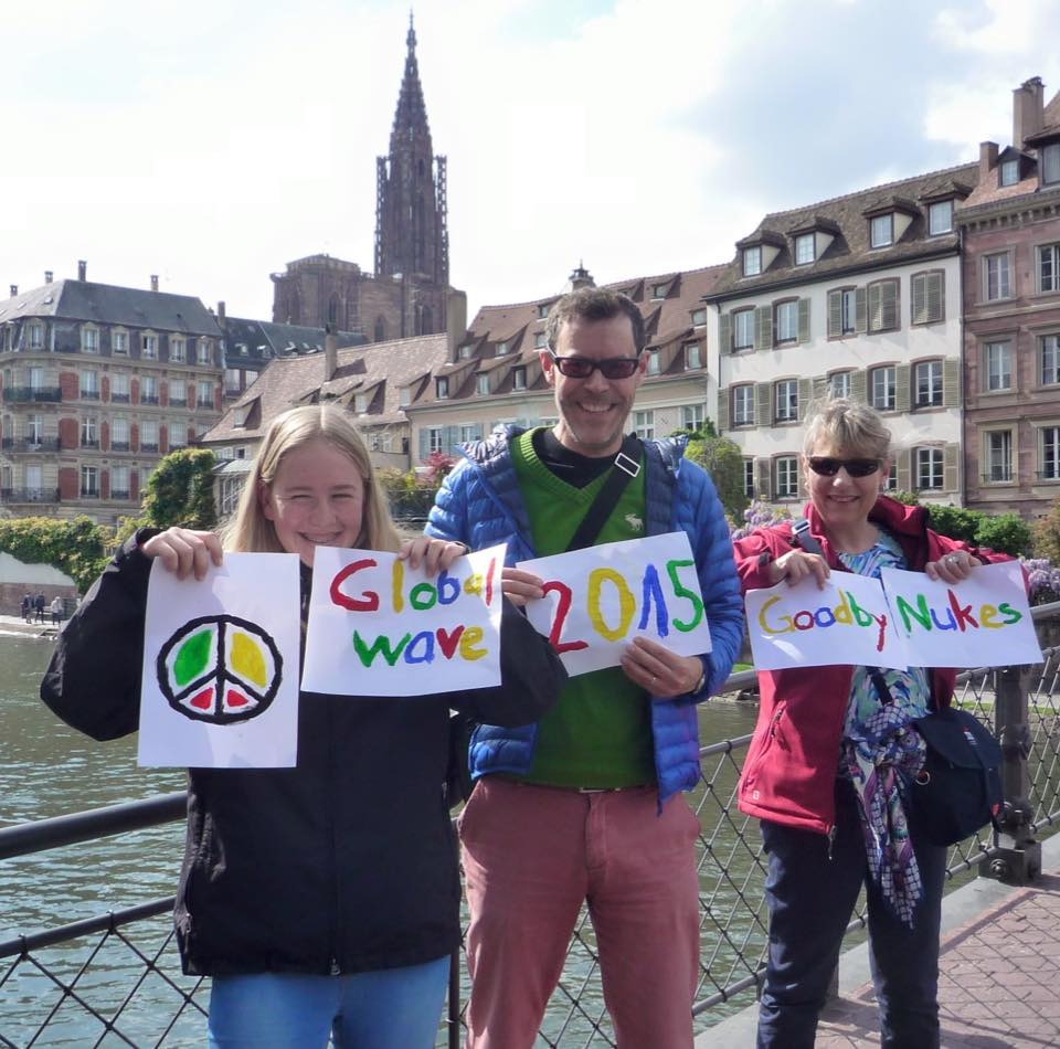 Representatives of swiss lawyers for nuclear disarmament in strasbourg, france