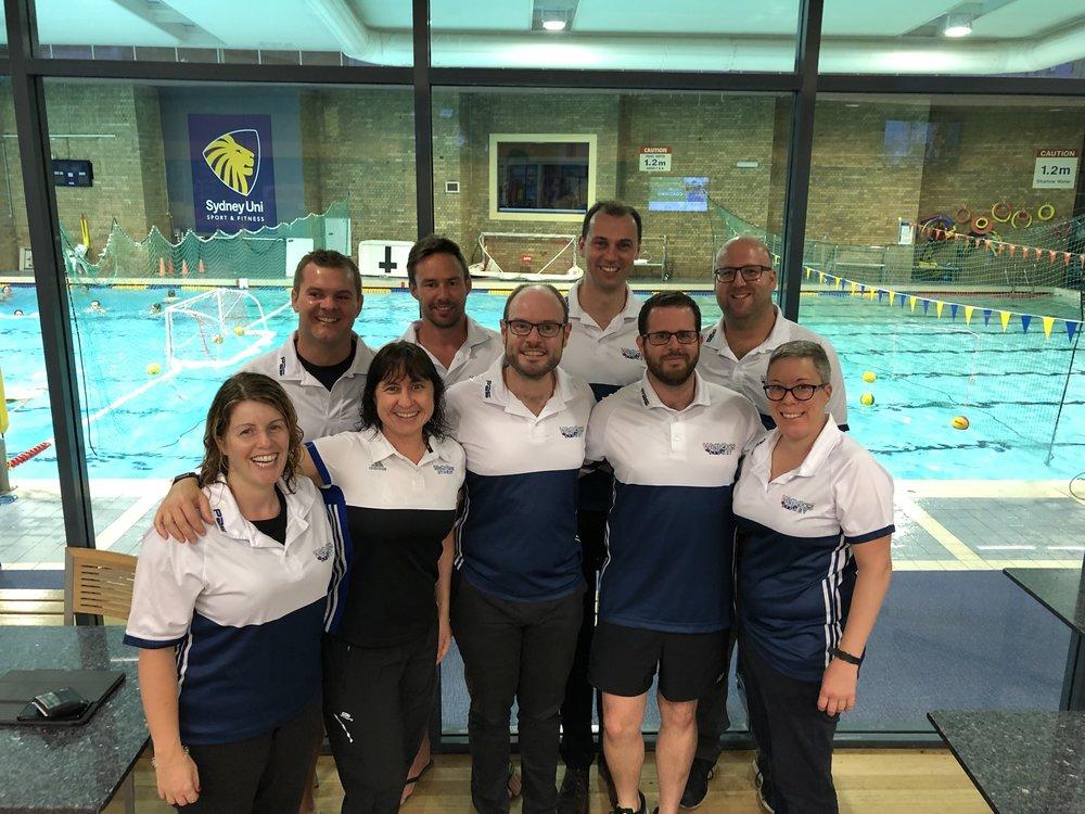 The 2018-19 committee  Back: Brad, David, Charlie, Nick  Front: Louise, Susie, Robert, Evan, Wendy  In spirit: Janet