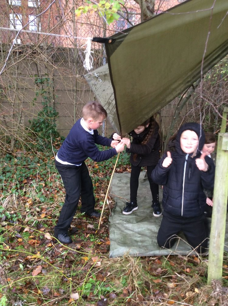 KS2 children enjoy Forest School at Park View