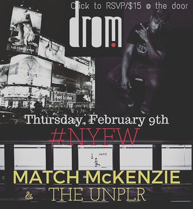 PULL UP IF YOU IN THE NEW YORK AREA I GOT FREE TICKETS FOR THE FIRST 5 DMS....#NEWYORK #FASHIONWEEK #LIVE #PERFORMANCE #NYC #THEUNPOPULAR #RAPMINUSLIES2
