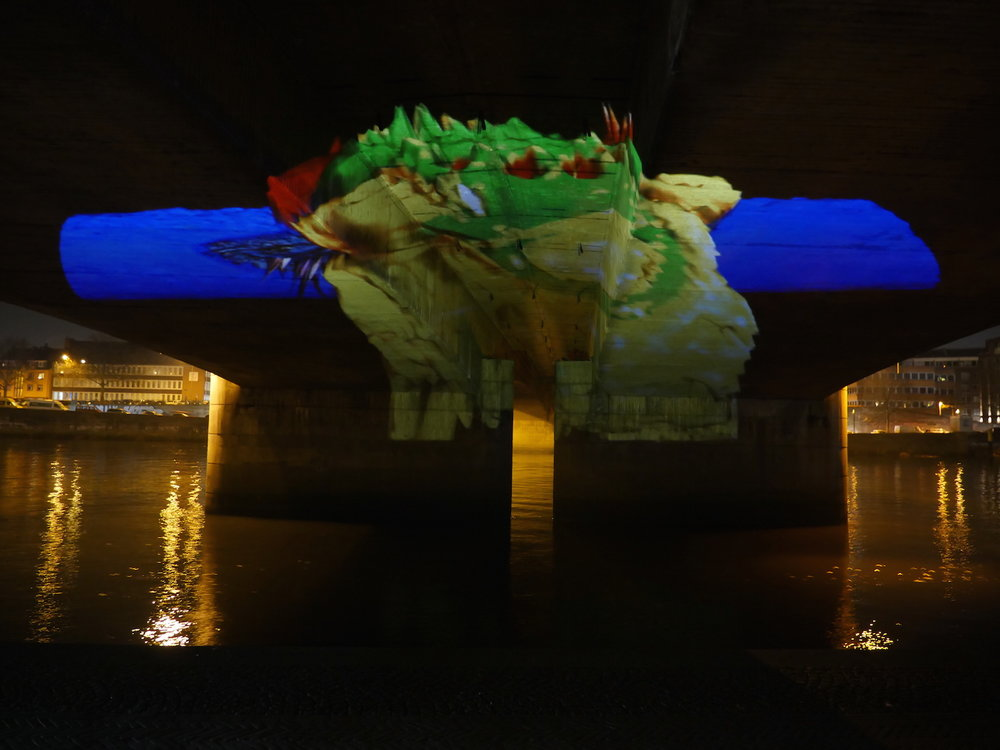 2016 -Hansestadt Bremen - Public Art - Phillip Griebel´s Garden Gnome - Videoinstallation