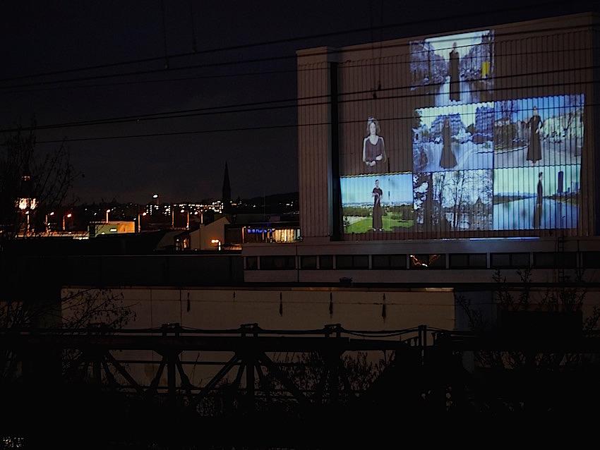 2019 Wuppertal Schauspielhaus - Public Art - Raster - Videoinstallation