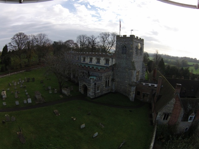 Original image including fisheye effect of the drone camera lens.