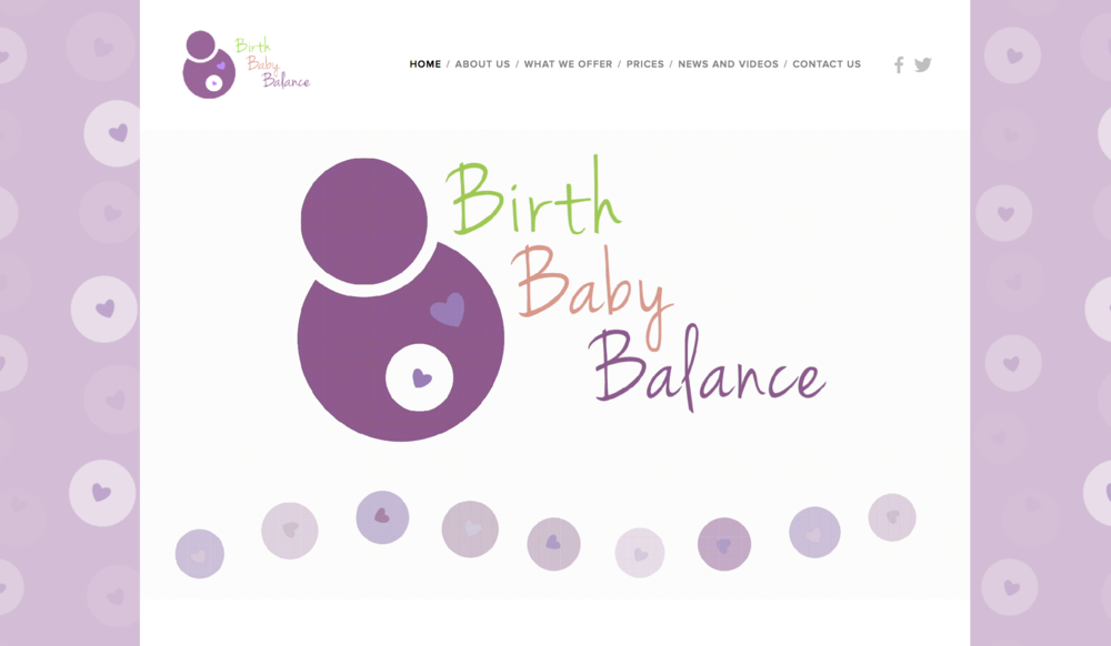 Website Design and Construction for Birth Baby Balance