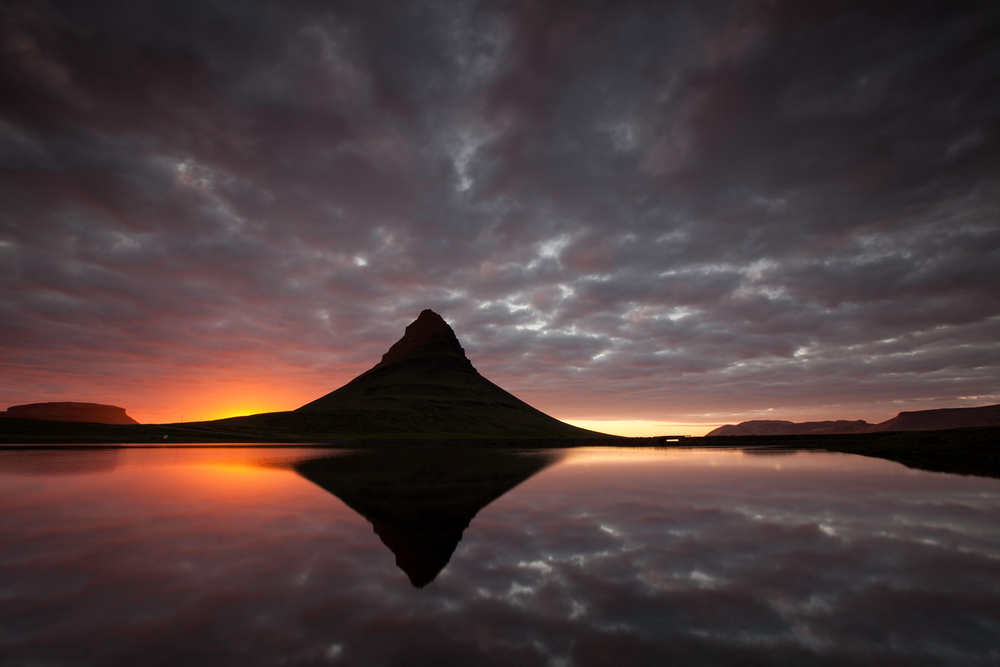 Kirkjufell mountain in west Iceland