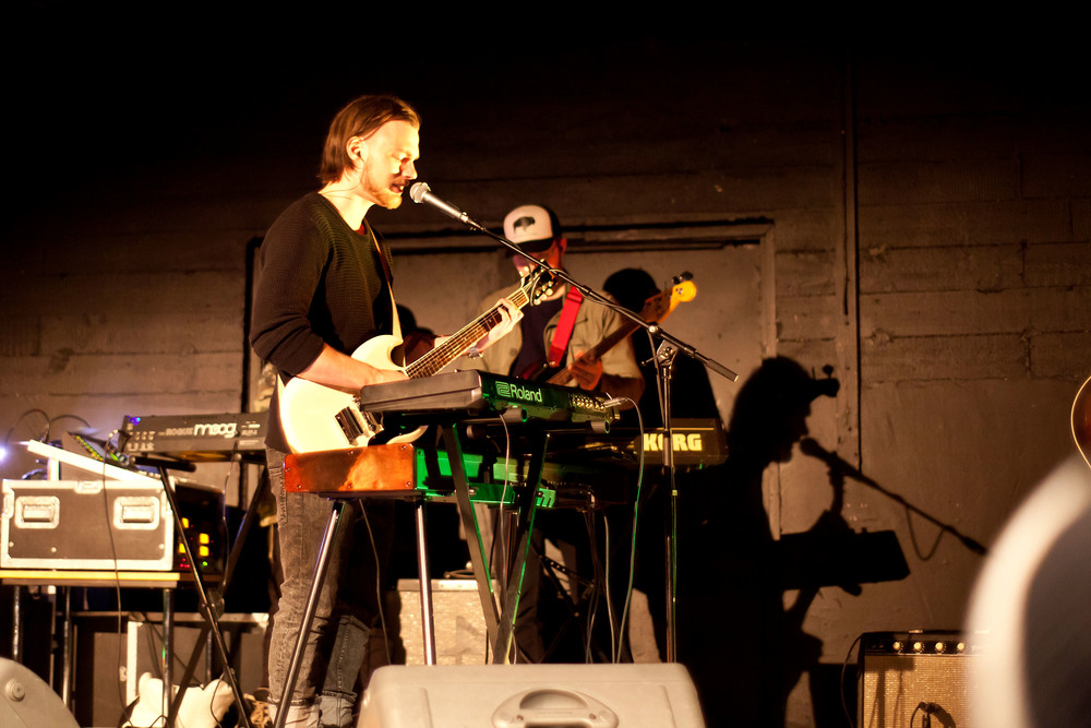 Ásgeir Trausti performing live music at The Freezer Hostel