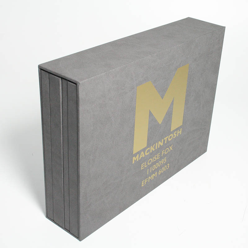 Suedel Slip Case with Gold Foil