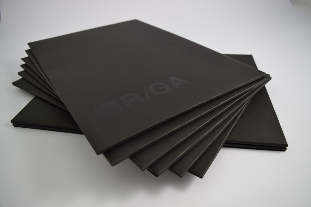 R/GA Spot UV Printed Folders