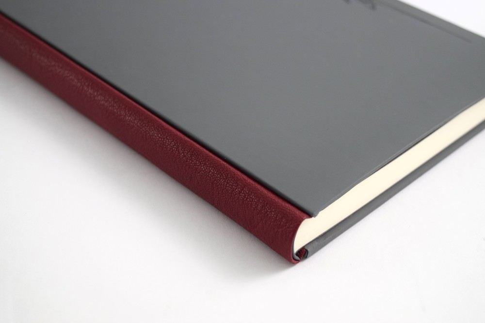 Leather Spine Case Bound Book