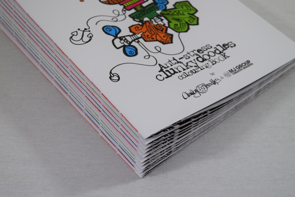 Colouring in Books - Pamphlet Stitch