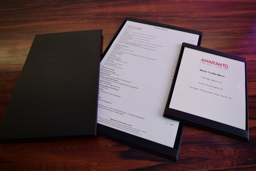 Four Seasons Restaurant Menus