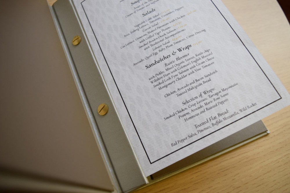 Bespoke Menu Cover