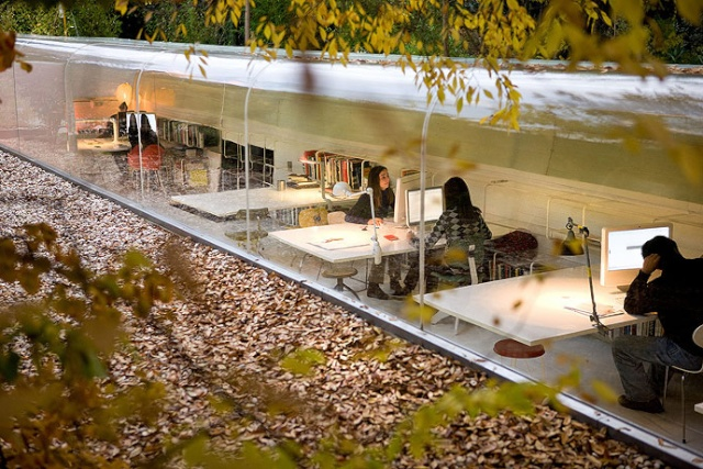 Architectural practice takes working to the outdoors!