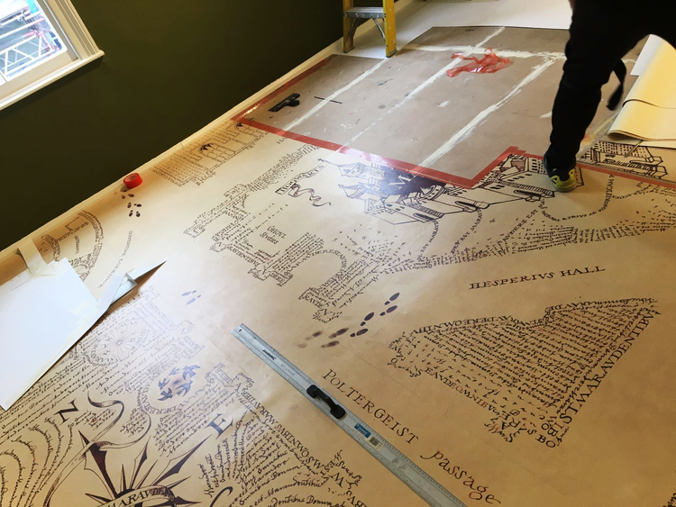 Marauder's Map Floor Graphics Install