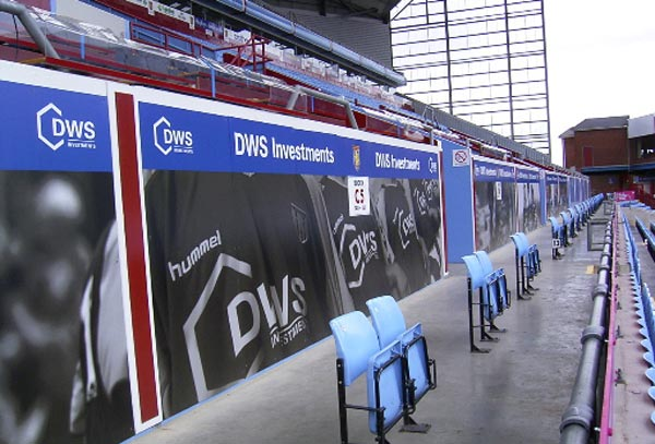 Aston Villa Hoarding Graphics