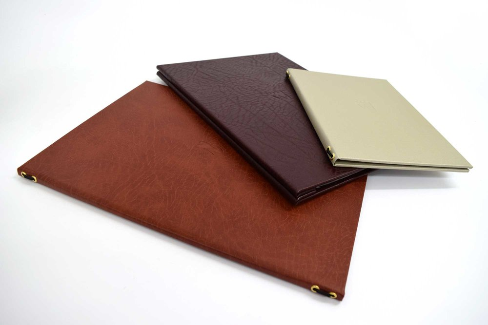 Leather Recycled Menus