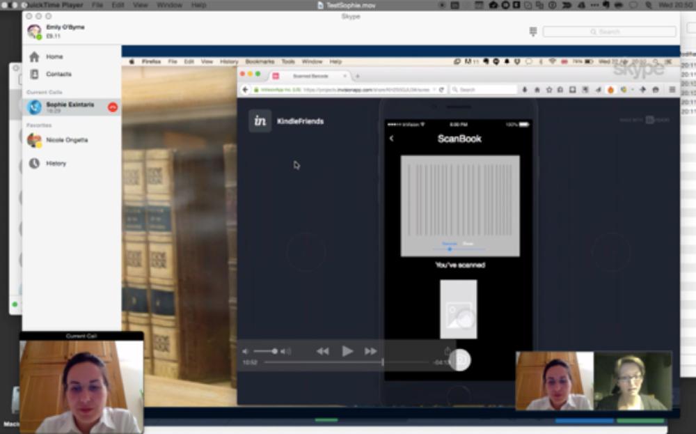 Usability testing over Skype