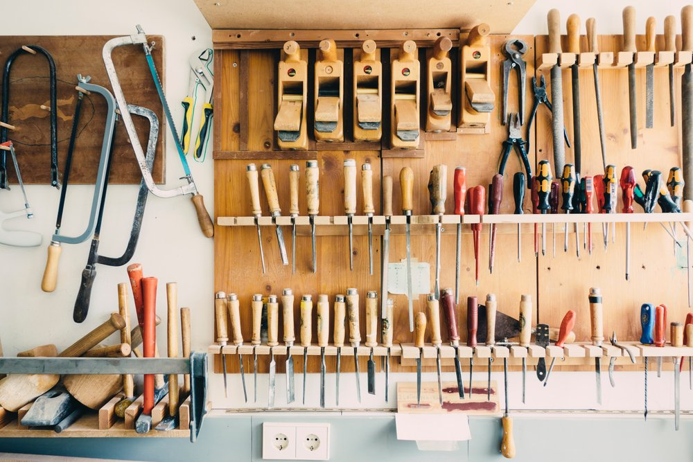 Toolkit. - Stuff I use to get work done and keep my business under control.Photo by Barn Images on Unsplash