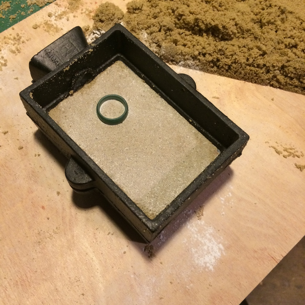 Sand Casting a Sterling Silver Wedding Band — SIO METALWORKS
