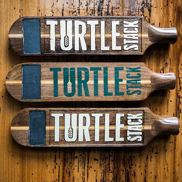 Local collaborations are my favorite. I have been fortunate enough to make  he tap handles for @turtlestackbrewery the newest brewery in La Crosse. What makes this collaboration even more awesome is that they are located just around the corner from the Sigurd Shop. So be sure to swing by the tap room and try out one of their great beers! #sigurdcanoeco #turtlestackbrewery #beer #drinklocal #madeinwi #handmade
