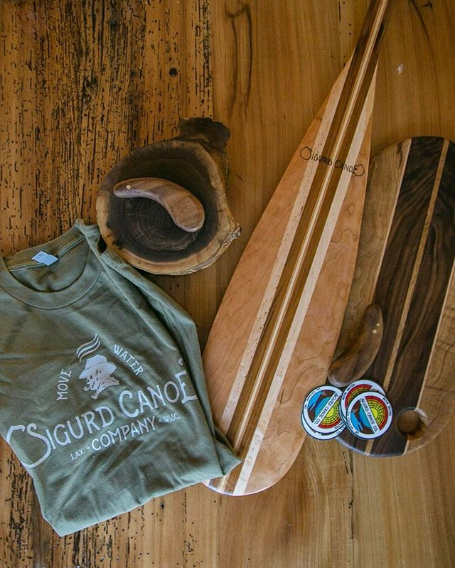 Just s few goodies along for the ride that will be for sale @canoecopia this year! Be sure to stop by the booth and say hi. #sigurdcanoeco #movewater #canoecopia #canoe #paddle #handmade