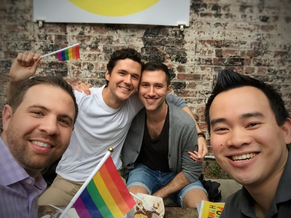 Celebrating NYC Pride with our friends Matt and Theo